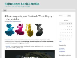 solucionessocialmedia.wordpress.com screenshot
