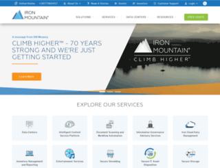 solutions.ironmountain.com screenshot