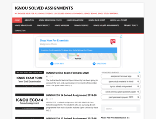 solvedignouassignments.com screenshot