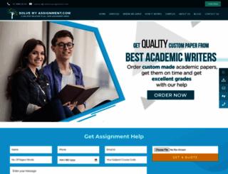 solvemyassignment.com screenshot