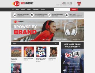 somusic.co.za screenshot