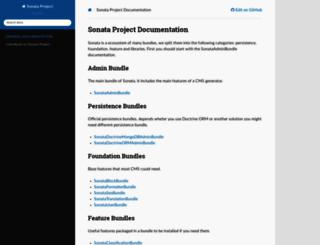sonata-project.org screenshot