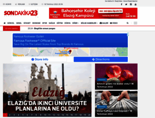 sondakika23.com screenshot