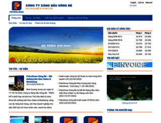 songbe.petrolimex.com.vn screenshot