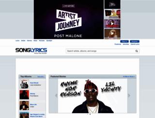 songlyrics.com screenshot