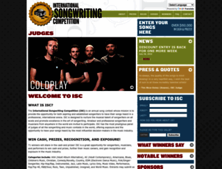 songwritingcompetition.com screenshot