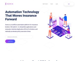 sonia.com screenshot