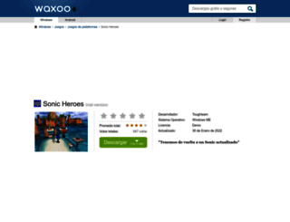 sonic-heroes.waxoo.com screenshot
