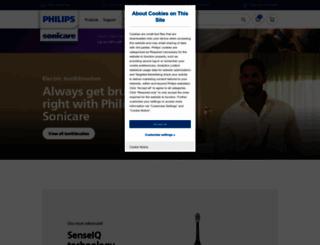 sonicare.com screenshot