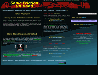 sonicfriction.com screenshot