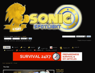 sonicspotlightrp.createaforum.com screenshot