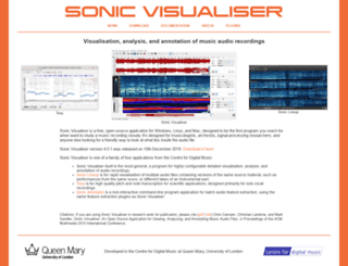 sonicvisualiser.com screenshot