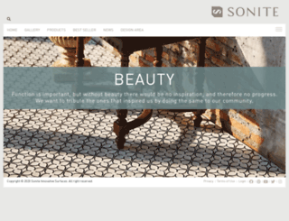 sonitesurfaces.com screenshot