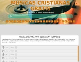sonmusicascristianas.com screenshot