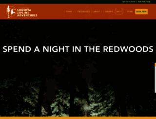sonomacanopytours.com screenshot