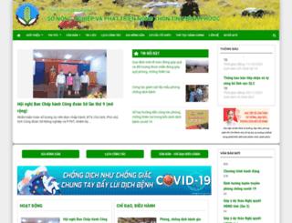sonongnghiepbp.gov.vn screenshot