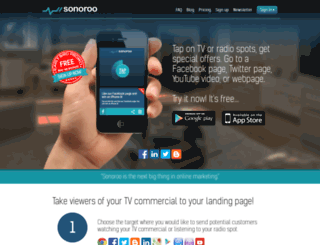 sonoroo.com screenshot