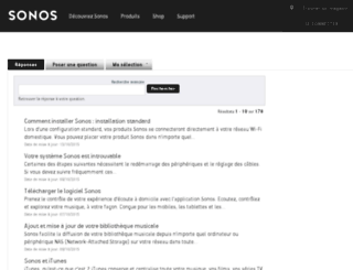 sonos-fr.custhelp.com screenshot