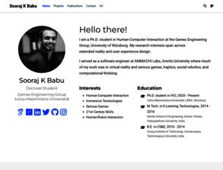 soorajkbabu.com screenshot