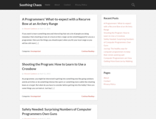 soothingchaos.com screenshot