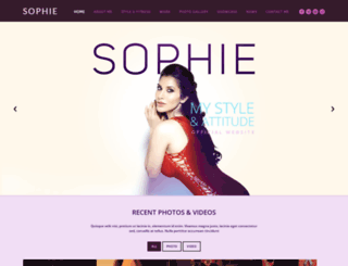 sophiechoudry.com screenshot