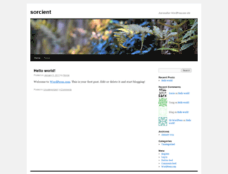 sorcient.wordpress.com screenshot