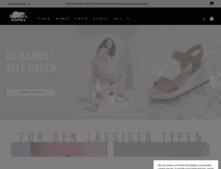 sorelfootwear.de screenshot