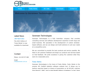 sorensen.com.au screenshot