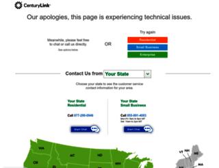 sorry.centurylink.com screenshot