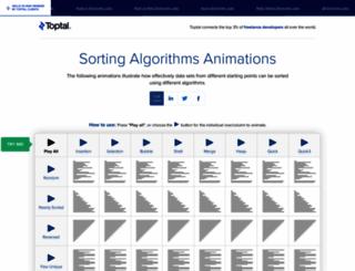sorting-algorithms.com screenshot
