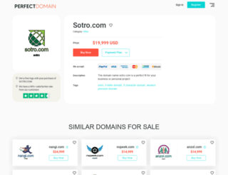sotro.com screenshot