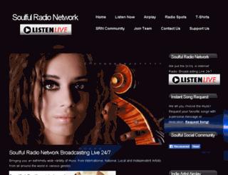 soulfulradionetwork.com screenshot