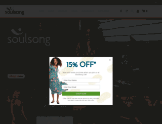 soulsongyogawear.com.au screenshot