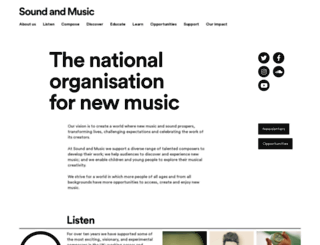 soundandmusic.org screenshot