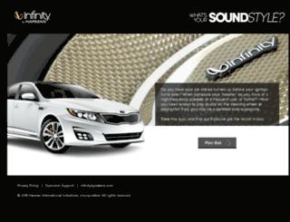 soundstyle.infinityspeakers.com screenshot
