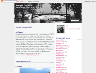 soupedujour.blogspot.com screenshot