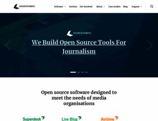sourcefabric.org screenshot