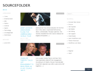 sourcefolder.wordpress.com screenshot