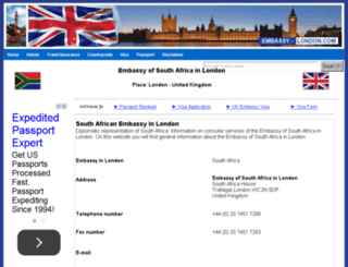 south-africa.embassy-london.com screenshot