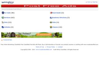 south-africa.myadsclassified.com screenshot