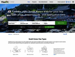 south-korea.visahq.com screenshot