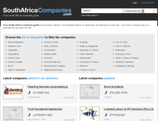 southafricacompanies.com screenshot