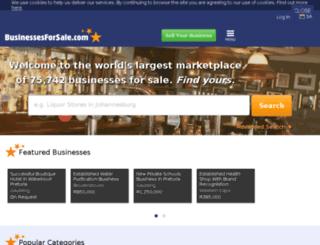 southafrican.businessesforsale.com screenshot