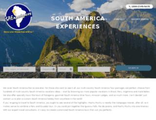 southamericaexperiences.com screenshot