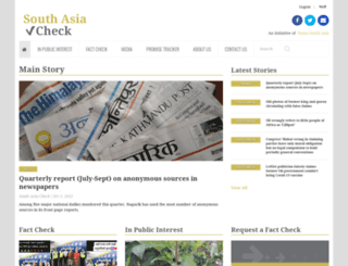 southasiacheck.org screenshot