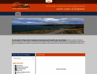southcoastcampsites.com screenshot