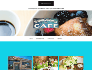 southcongresscafe.com screenshot