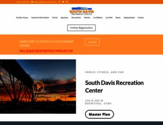 southdavisrecreation.com screenshot