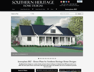 southernheritageplans.com screenshot