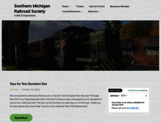 southernmichiganrailroad.com screenshot